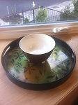 B-Chic Designs - Artist Jesse Nguyen - Lacquer Tray and Matching Bowl