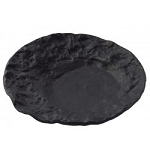 Part Number 371 Crater Black Molten Glass Dish Ware Collection Tristate